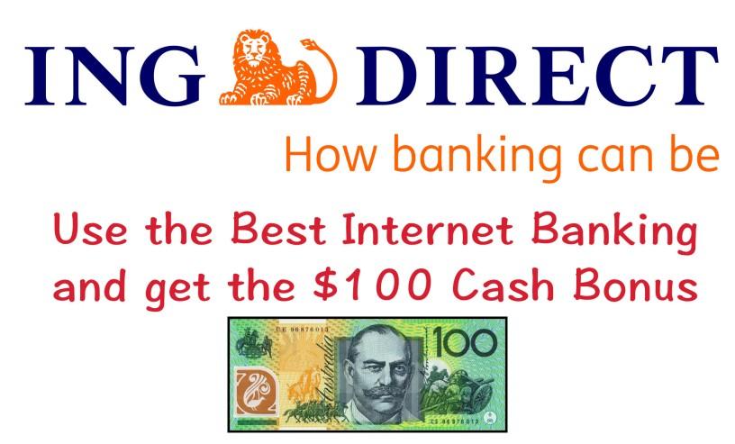 ING DIRECT 75元跟100元現金紅利